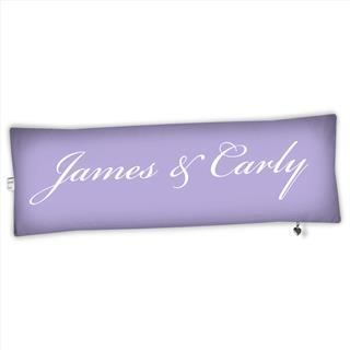 mr and mrs bolster cushion personalised